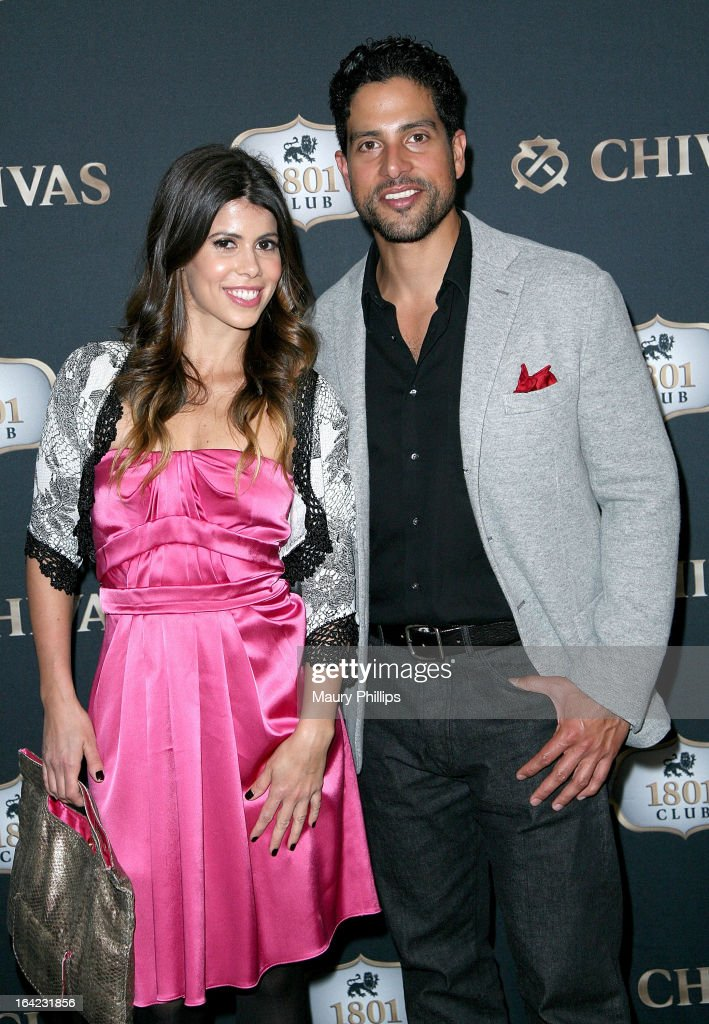 Branca Ferrazo and <a gi-track='captionPersonalityLinkClicked' href=/galleries/search?phrase=Adam+Rodriguez&family=editorial&specificpeople=212837 ng-click='$event.stopPropagation()'>Adam Rodriguez</a> attend LA's Chivas Regal 1801 Club LA launch party on March 20, 2013 in Los Angeles, California.