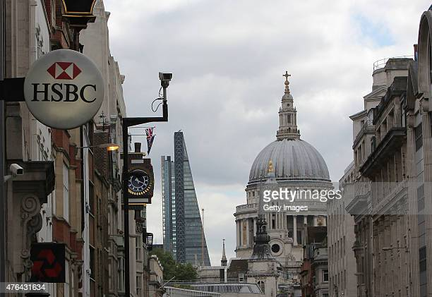 A branch of HSBC Bank in Fleet Street on June 9 2015 in London United Kingdom Europe's biggest bank is to cut thousands of jobs as it tries to reduce...
