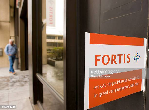 A branch of the embattled BelgianDutch financial group Fortis is pictured in the center of Brussels early on September 30 2008 Dutch banking group...