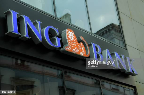 A branch of the ING bank is seen in the old town center on 19 October 2017