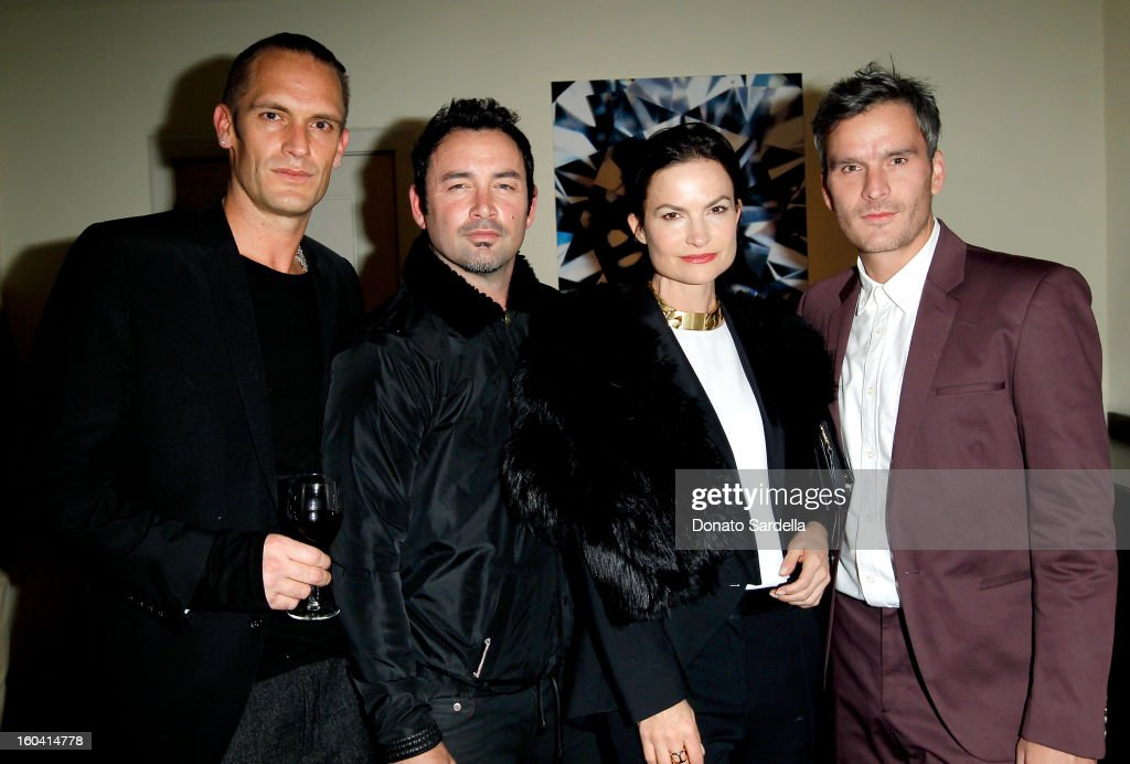 Brand Ambassador for Kether Parker, Kether Parker and Robert Keith of Hoorsenbuh, host Rosetta Getty, and Balthazar Getty attend Hoorsenbuhs for Forevermark Collection cocktail party at Chateau Marmont on January 30, 2013 in Los Angeles, California.