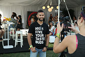 A brand ambassador gives an interview at the Bai VIP Lounge on day one of The Panorama Music Festival at Randall's Island on July 22 2016 in New York...