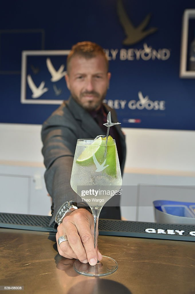 Brand Ambassador Guillaume Jubien and GREY GOOSE Introduce The Refreshing Signature Summer Serve, Le Grand Fizz, at the 142nd Kentucky Derby at the 142nd Kentucky Derby on May 5, 2016 in Louisville, Kentucky.