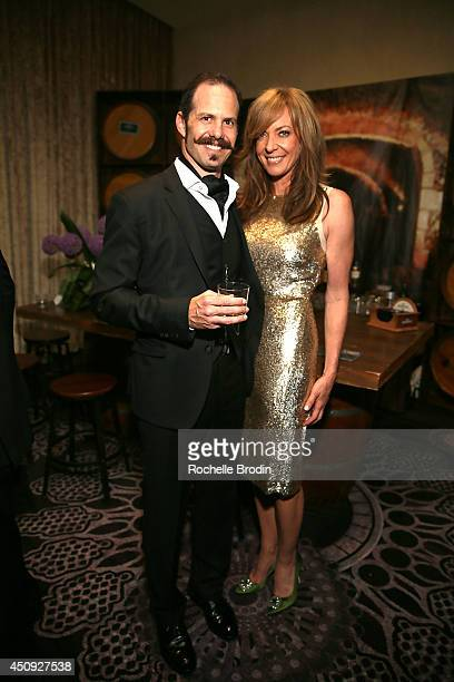 Brand ambassador John Gelfand and Allison Janney attend the Absolut ELYX and The Glenlivet Lounge at The Critics Choice Television Awards at The...