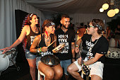Brand ambassadors play music at the Bai VIP Lounge on day one of The Panorama Music Festival at Randall's Island on July 22 2016 in New York City