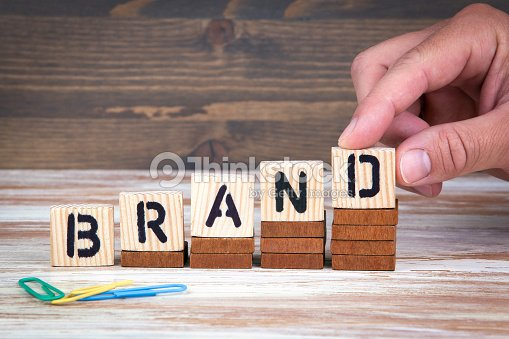 Brand Concept Wooden Letters On The Office Desk Informative And