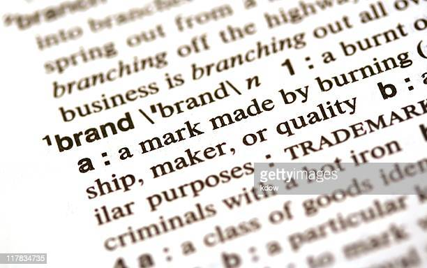 Brand definition in the dictionary