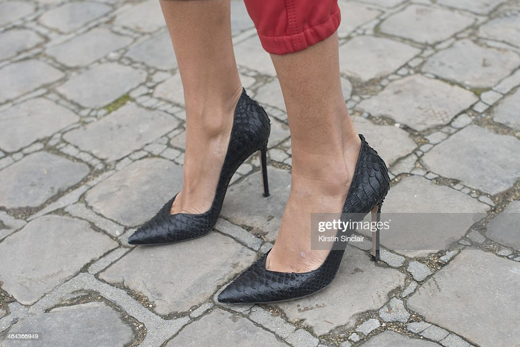 Brand development and jewellery designer for Buccelah Maria Buccelah wears French Connection trousers Giia Rosso shoes day 2 of Paris Haute Couture...