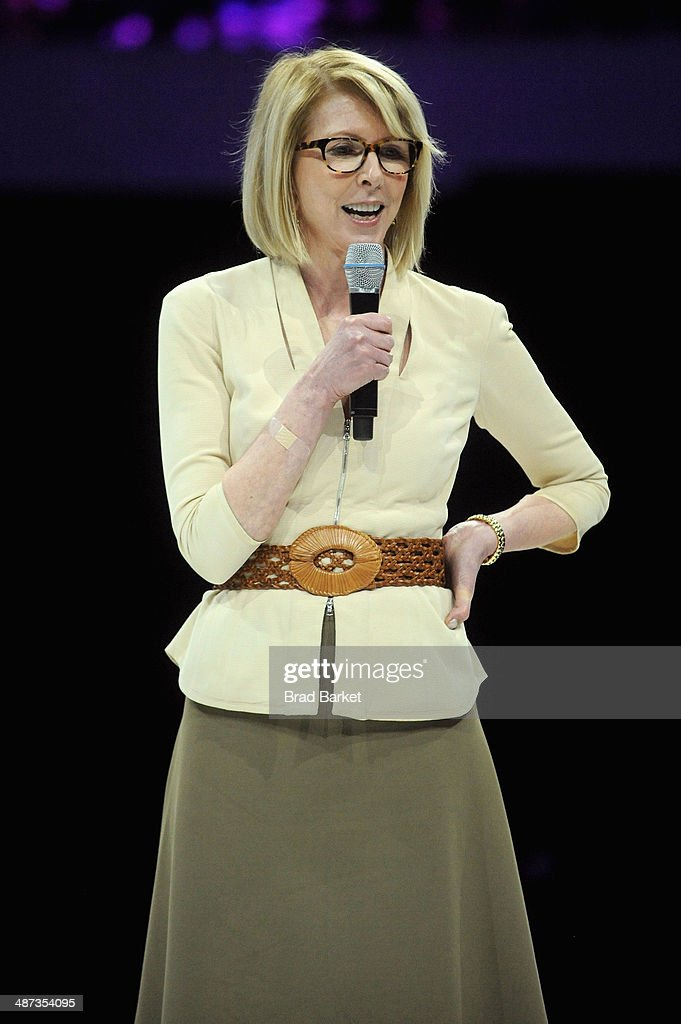 Brand Group Susan Lyne speaks onstage at the 2014 AOL NewFronts at Duggal Greenhouse on April 29 2014 in New York New York