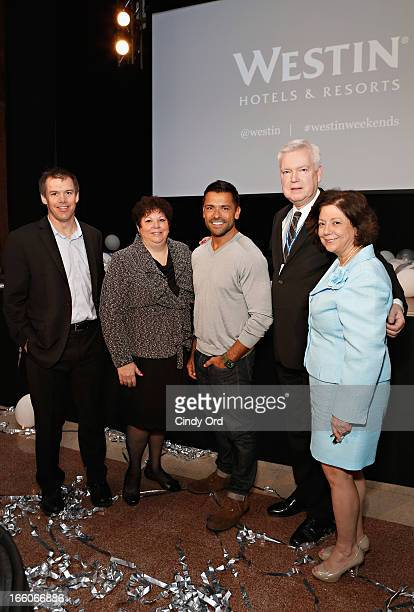 VP Brand Management Sheraton Westin North America Bob Jacobs Donna Tanzi actor Mark Consuelos and Deputy executive director of Lenox Hill Hospitals...