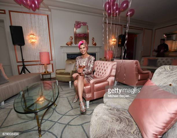 Brand Manager of Absolut Elyx Lindsay Nader attends Millie Brown's Rainbow Bodied Cocktail Event at the Private Residence of Jonas Tahlin CEO Absolut...