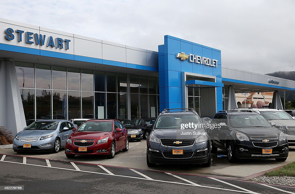 Brand new Chevrolet crossover vehicles are displayed next to sedans at Stewart Chevrolet on July 16, 2014 in Colma, California. According to a report by IHS Automotive, new registrations on SUVs and crossover vehicles surpassed sedans for the first time with SUVs and crossovers taking 36.5 percent of registrations while sedans registered 35.4 percent.