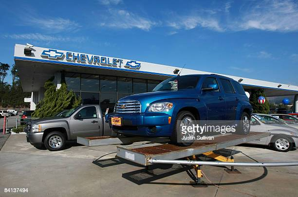 A brand new Chevrolet HHR is displayed at Stewart Chevrolet December 29 2008 in Colma California General Motors and Chrysler are scheduled to receive...