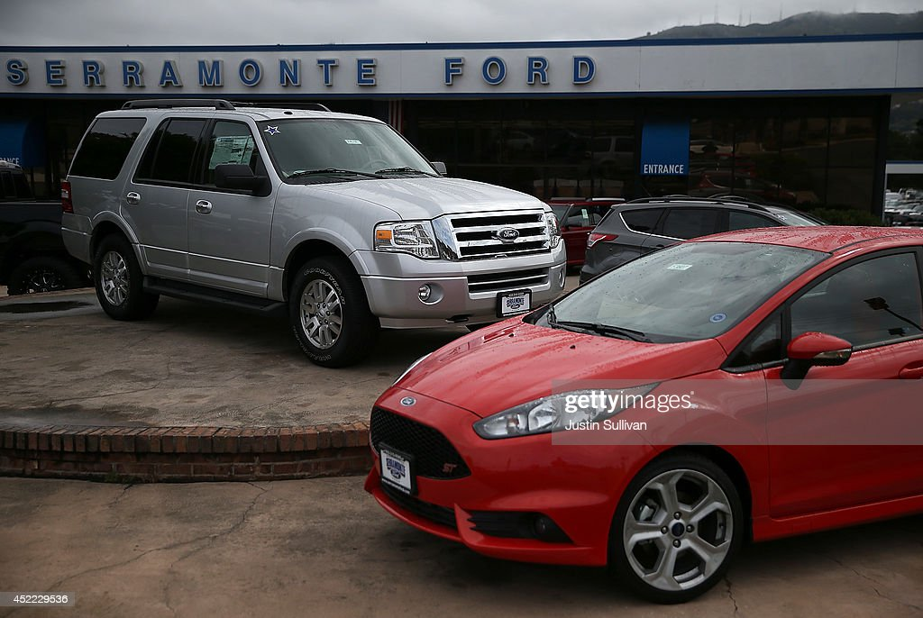 A brand new Ford Expedition is displayed at Serramonte Ford on July 16, 2014 in Colma, California. According to a report by IHS Automotive, new registrations on SUVs and crossover vehicles surpassed sedans for the first time with SUVs and crossovers taking 36.5 percent of registrations while sedans registered 35.4 percent.