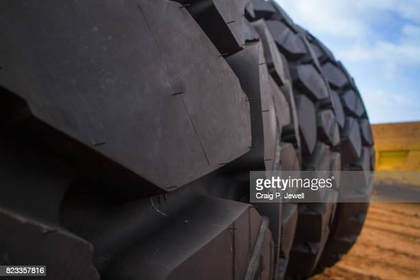 Brand New Giant Tyres for a Mining Haul Truck