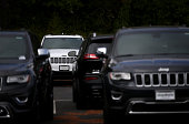 Brand new Jeeps are displayed on the sales lot at Chrysler Jeep Dodge Ram Marin on September 3 2014 in Corte Madera California Chrysler Group...
