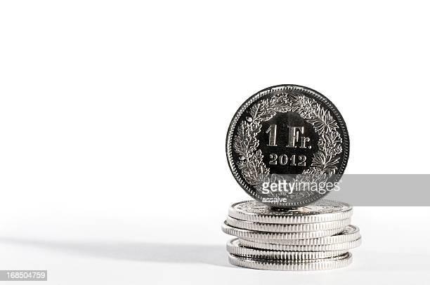 Neue einem Schweizer Franken mit Jahr 2012