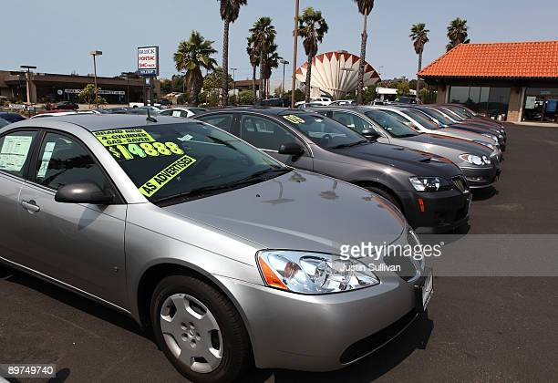 A brand new Pontiac is displayed at Hilltop Buick PontiacGMC August 11 2009 in Richmond California Hundreds of General Motors California dealers have...