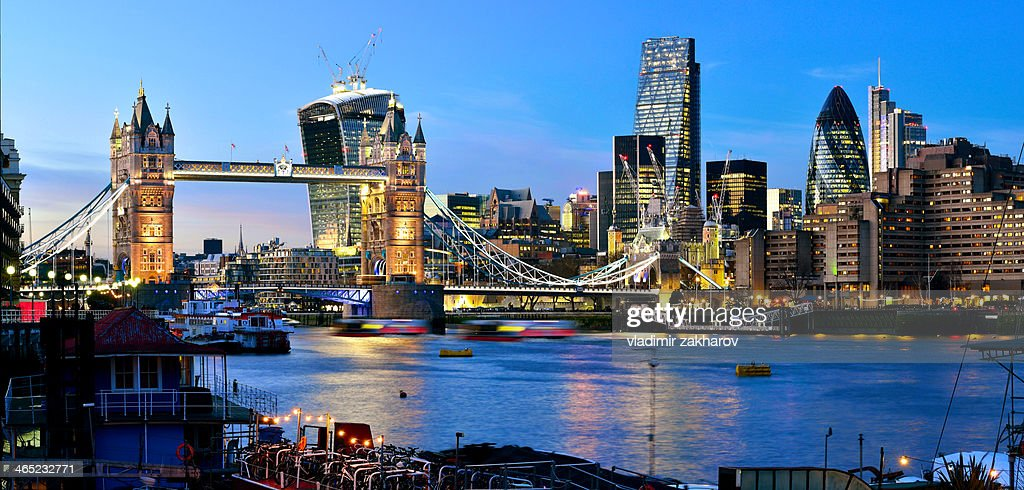 Brand new skyline of City of London : Stock Photo
