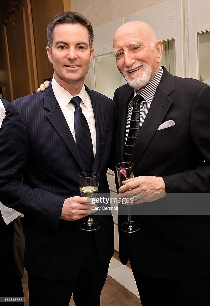 Brand President, Breguet North America, Michael Nelson (L), and actor <a gi-track='captionPersonalityLinkClicked' href=/galleries/search?phrase=Dominic+Chianese&family=editorial&specificpeople=175942 ng-click='$event.stopPropagation()'>Dominic Chianese</a> attend Breguet Celebration of 10 Years on Madison Avenue on December 8, 2011 in New York City.