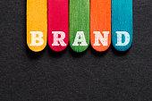Brand Word on Wood Block