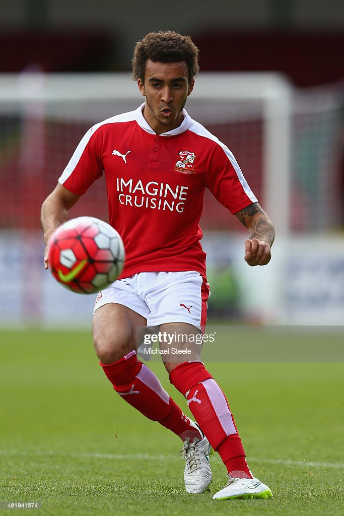 Brandan Ottowill of Swindon Town during the PreSeason Friendly match between Swindon Town and West Bromwich Albion at the County Ground on July 25...