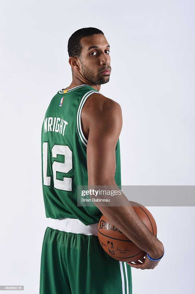 <a gi-track='captionPersonalityLinkClicked' href=/galleries/search?phrase=Brandan+Wright&family=editorial&specificpeople=3847557 ng-click='$event.stopPropagation()'>Brandan Wright</a> #12 of the Boston Celtics poses for a portrait on December 27, 2014 at the TD Garden in Boston, Massachusetts.