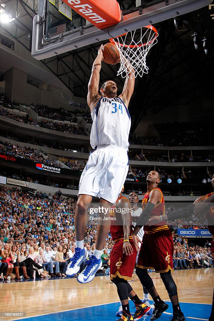 <a gi-track='captionPersonalityLinkClicked' href=/galleries/search?phrase=Brandan+Wright&family=editorial&specificpeople=3847557 ng-click='$event.stopPropagation()'>Brandan Wright</a> #34 of the Dallas Mavericks dunks against the Cleveland Cavaliers on March 15, 2013 at the American Airlines Center in Dallas, Texas.