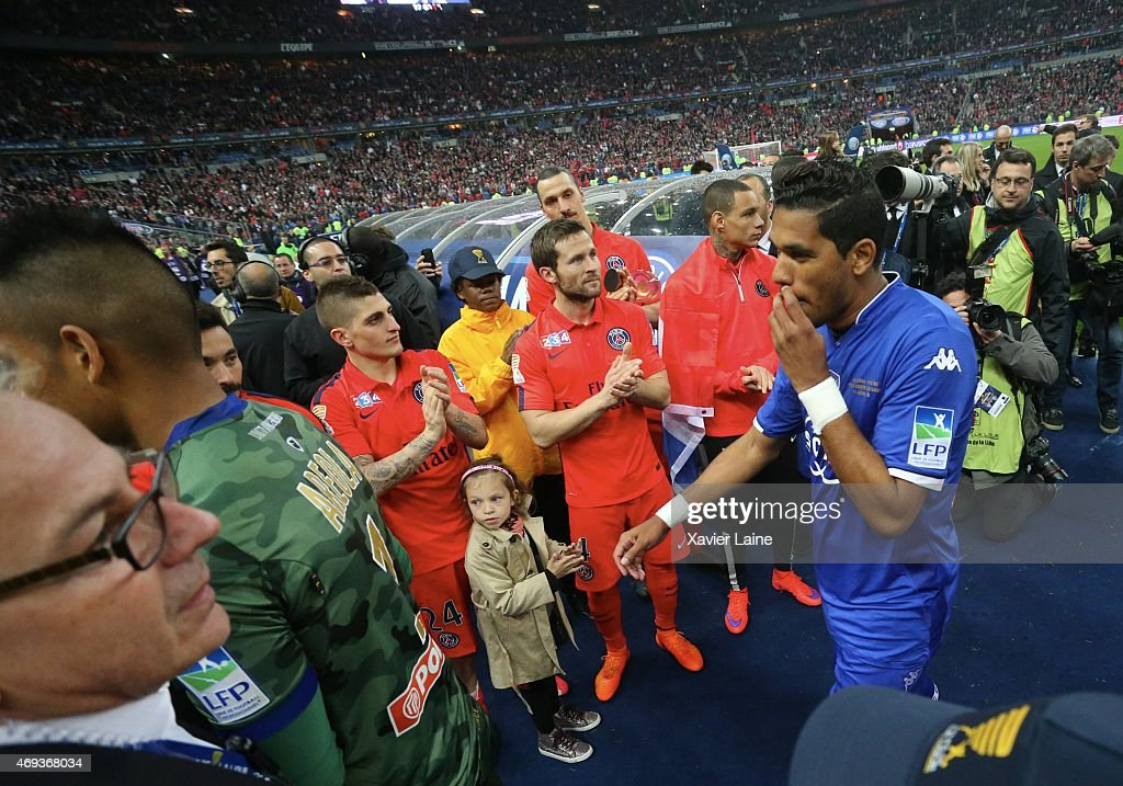 Brandao of SC Bastia his disapointed after defeact during the French League Cup Final between Paris Saint-Germain and SC bastia FC at Stade de France on april 11, 2015 in Paris, France.