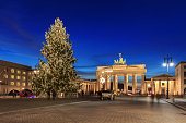 Brandburg ate with christmas tree and chanukka
