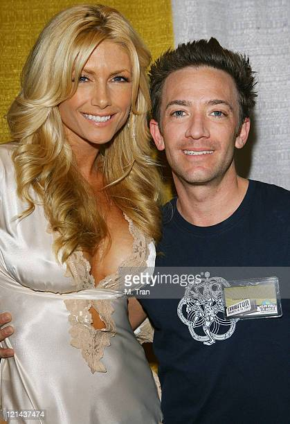 Brande Roderick and David Faustino during 2007 Wizard World Day 2 at Los Angeles Convention Center in Los Angeles California United States