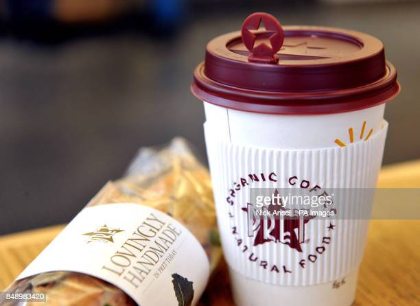 Branded cups and sandwich in a Pret A Manger store in Melcombe Street in central London Filipino fast food group Jollibee Foods Corp is reportedly...