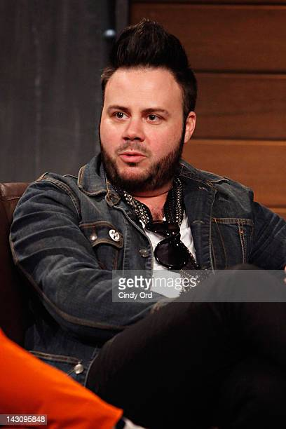 Branden Campbell of Neon Trees visits fuse's 'Hoppus on Music' at fuse Studios on April 18 2012 in New York City