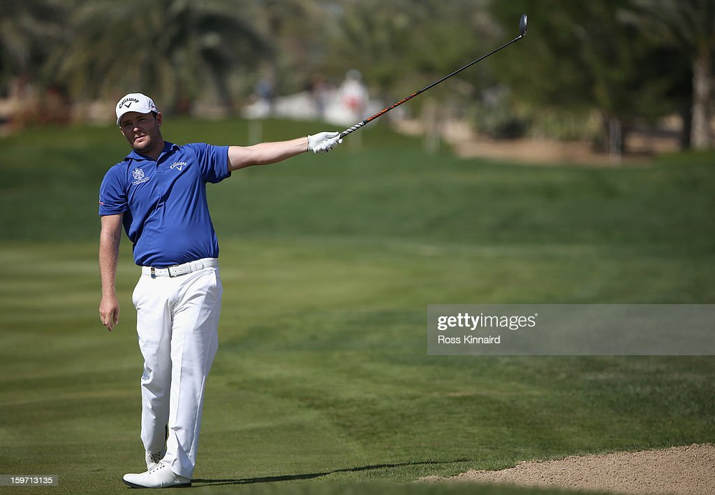 Branden Grace of South Africa during the third round of the Abu Dhabi HSBC Golf Championship at the Abu Dhabi Golf Club on January 19, 2013 in Abu Dhabi, United Arab Emirates.