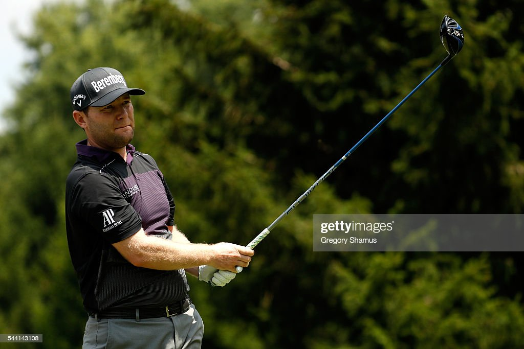 <a gi-track='captionPersonalityLinkClicked' href=/galleries/search?phrase=Branden+Grace+-+Golfer&family=editorial&specificpeople=4816558 ng-click='$event.stopPropagation()'>Branden Grace</a> of South Africa hits off the fourth tee during the second round of the World Golf Championships - Bridgestone Invitational at Firestone Country Club South Course on July 1, 2016 in Akron, Ohio.