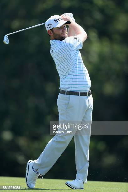 Branden Grace of South Africa in action during a practice round ahead of THE PLAYERS Championship on the Stadium Course at TPC Sawgrass on May 10...