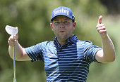 Branden Grace of South Africa plays a practice round before the start of the SA Open championship at Glendower Golf Club on January 6 2016 in...