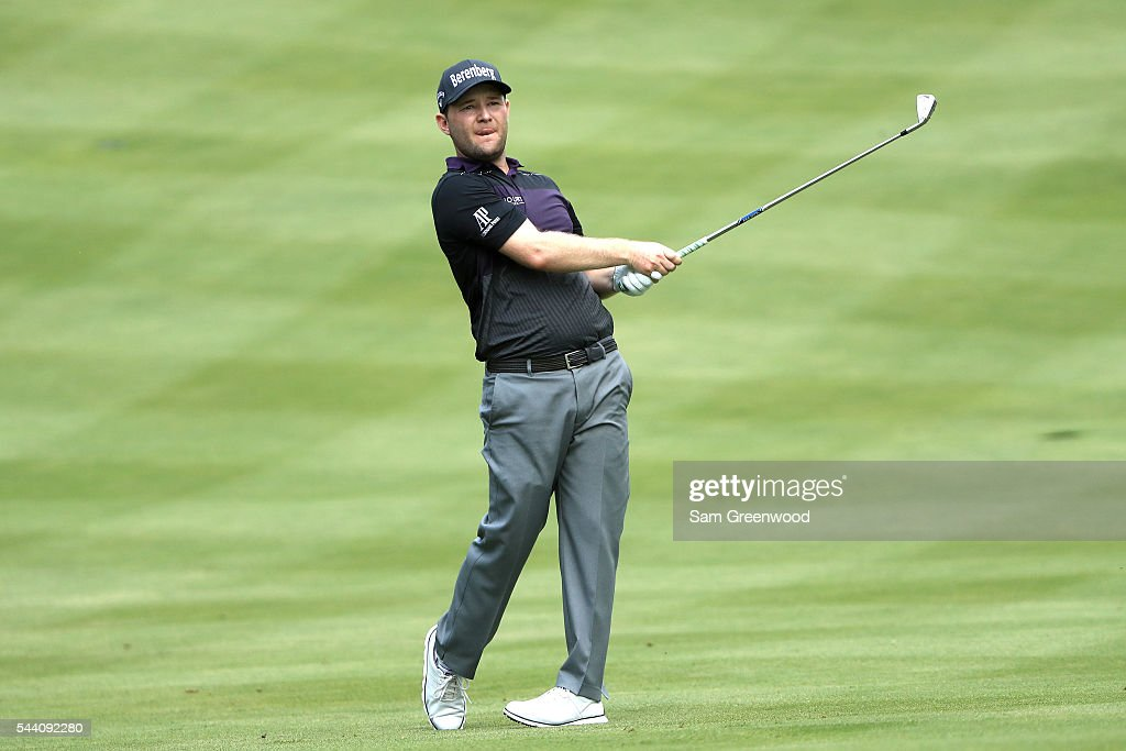 <a gi-track='captionPersonalityLinkClicked' href=/galleries/search?phrase=Branden+Grace+-+Golfer&family=editorial&specificpeople=4816558 ng-click='$event.stopPropagation()'>Branden Grace</a> of South Africa plays a shot on the sixth fairway during the second round of the World Golf Championships - Bridgestone Invitational at Firestone Country Club South Course on July 1, 2016 in Akron, Ohio.