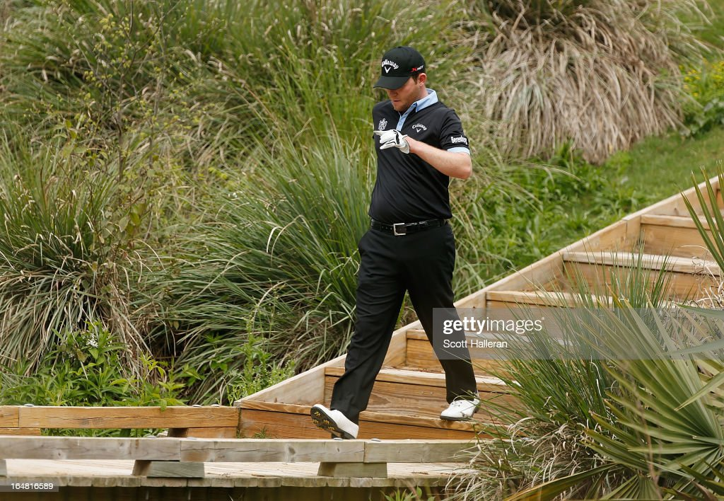 Branden Grace of South Africa walks on the tenth hole during the first round of the Shell Houston Open at the Redstone Golf Club on March 28, 2013 in Humble, Texas.