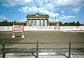 Brandenburg Gate 1987, seen from west to east