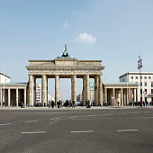 Brandenburg gate and road in front