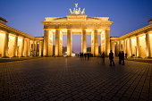 'Brandenburg Gate at Dusk, Berlin Landmark, Germany'