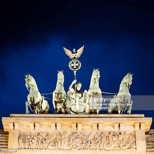 Brandenburg Gate (Tor) at night, Berlin, Germany
