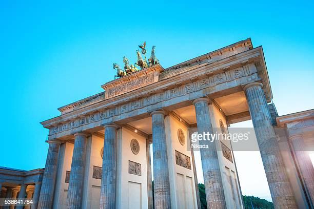 Brandenburger Tor bei Sonnenuntergang, Berlin, Deutschland