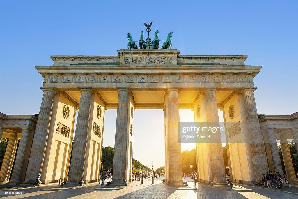 Brandenburg Gate, Berlin, at sunset