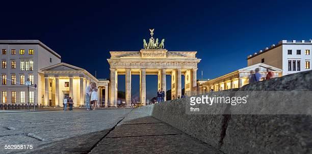 Brandenburg gate in low perspective
