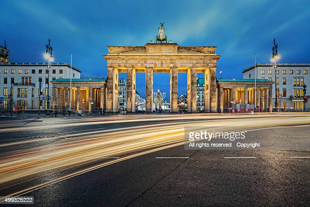 Brandenburger Gate at twilight, Berlin