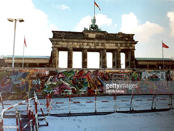 Brandenburger Tor still behind the wall after the 9 Nov 1989 In this analog shot you can see that there were still restrictions to go to the part of...