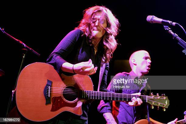 Brandi Carlile performing to the sold out crowd at Bowery Ballroom on Friday night April 27 2007This imageBrandi Carlile with Phil Hanseroth on bass
