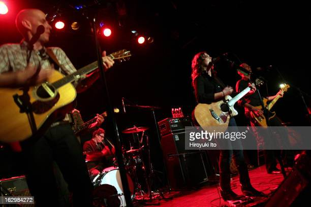 Brandi Carlile performing to the sold out crowd at Bowery Ballroom on Friday night April 27 2007This imageBrandi Carlile center with the Hanseroth...